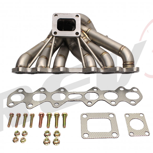 HP-Series Toyota Supra 2JZGTE Equal Length T4 Turbo Manifold Type-2
