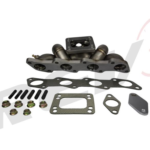 HP-Series Nissan 240SX KA24DE Equal Length Top Mount T3/T4 Turbo Manifold