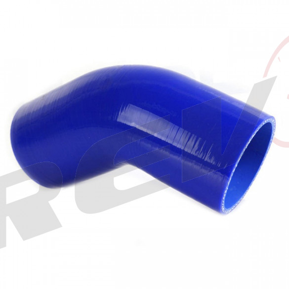 Silicone Tubing Coupler - 45 Degree Elbow 2.50 Inch, Blue