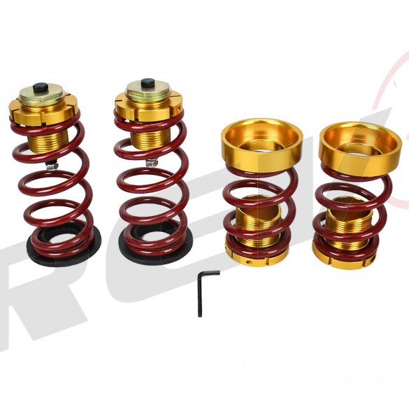 Honda Civic 06-11 Lowering Spring with Hi-Low Sleeve Kit, Red and Gold