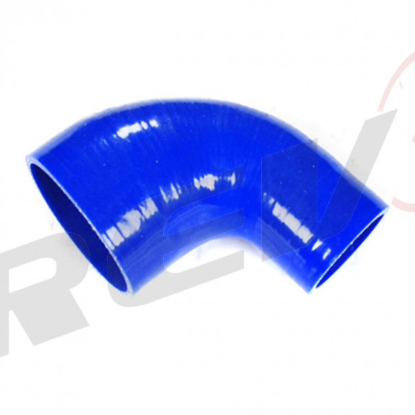 Silicone Tubing Reducer - 90 Degree Elbow 2.75 To 3.00 Inch, Blue