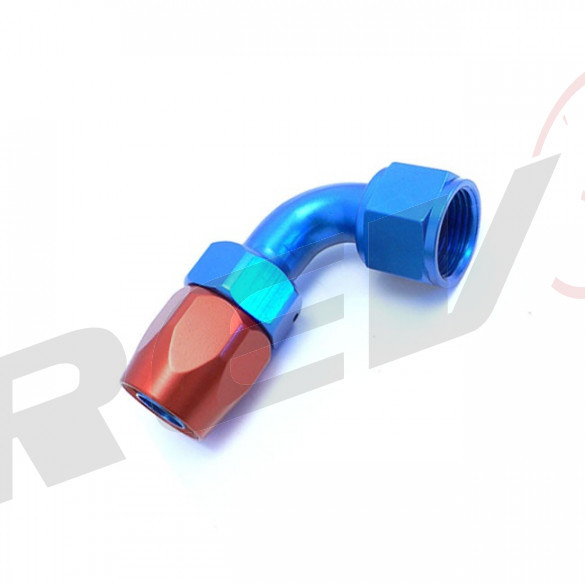 90 Degree Double Swivel Hose End - Aluminum; -8AN