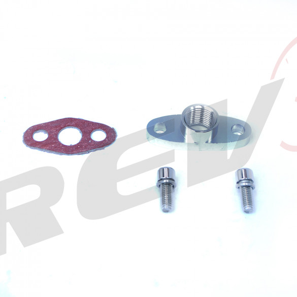 Turbocharger Oil Drain Flange 1/2 NPT Adaptor (T3, T3/T4, T04)