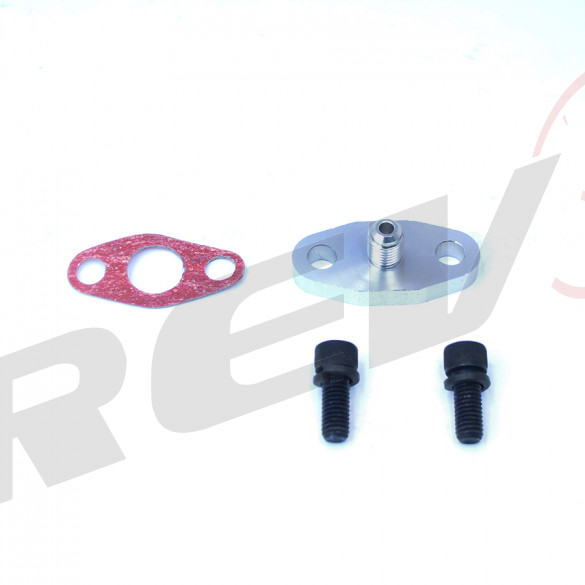 Turbocharger Oil Feed Flange with Built-in Restrictor, -4 AN
