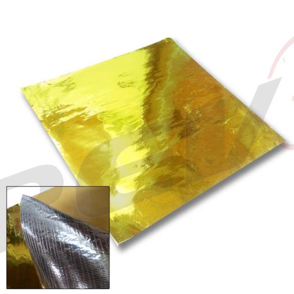 Gold Heat Reflector Barrier Tape Sheet 20 x 20 in.