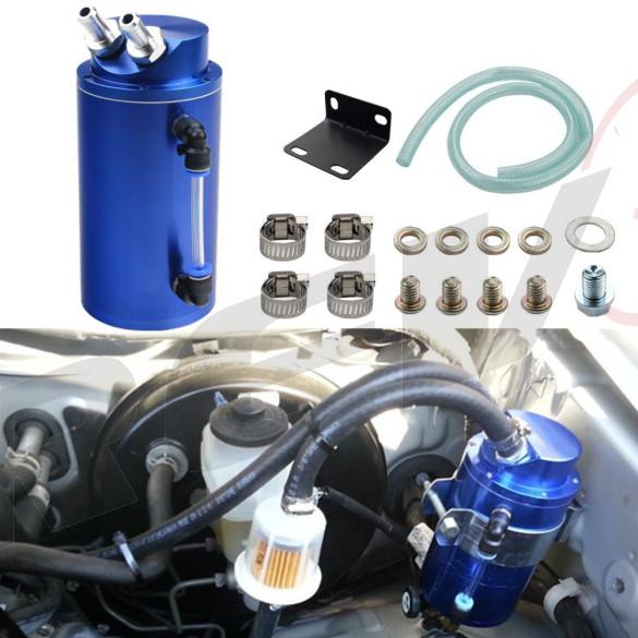 Universal Aluminum Oil Catch Can Type 1, 750ML, Blue