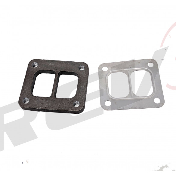 T4 Turbo Divided Flange and Gasket (Steel)