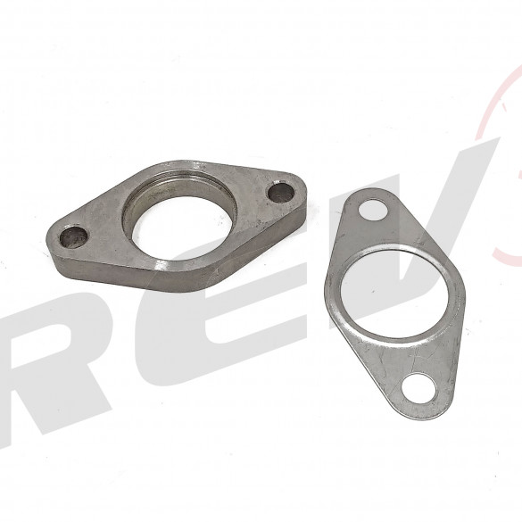 35-38mm Wastegate Dump Tube Flange, Unthreaded, 304 Stainless Steel