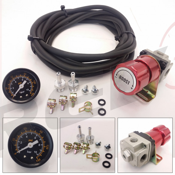Universal Manual Turbo Boost Controller with 1.6'' Gauge (Red)