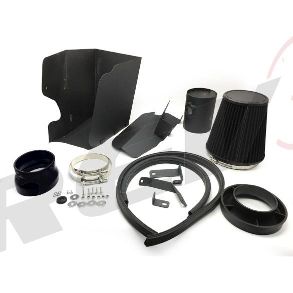 """Ford F250 F350 F450 F550 Super Duty Diesel 08-10 6.4 V8 4.5"""" Intake Kit (Wrinkle Black)"""