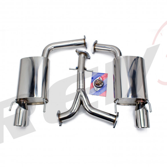 Lexus GS (S190) 2006-11 FlowMaxx Stainless Axle-Back Exhaust System, 62mm Pipe