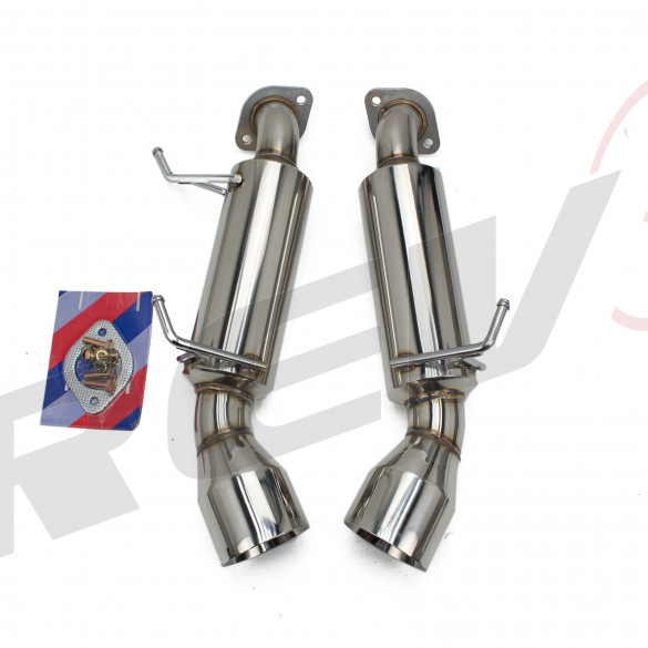 Infiniti G37 Coupe (V36) RWD 2008-13 FlowMaxx Stainless Axle-Back Exhaust System, 60mm Pipe