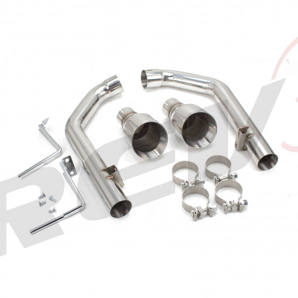 Ford Mustang GT 2015+UP FlowMaxx Stainless Axle-Back Exhaust Straight Pipe System