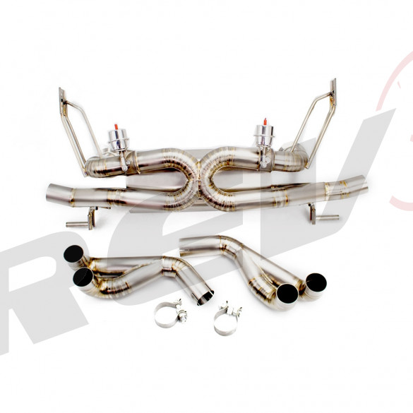 Cat-Back Exhaust, Titanium, 2.75 Inch, Valved Audi R8 4.2L V8 2008-12