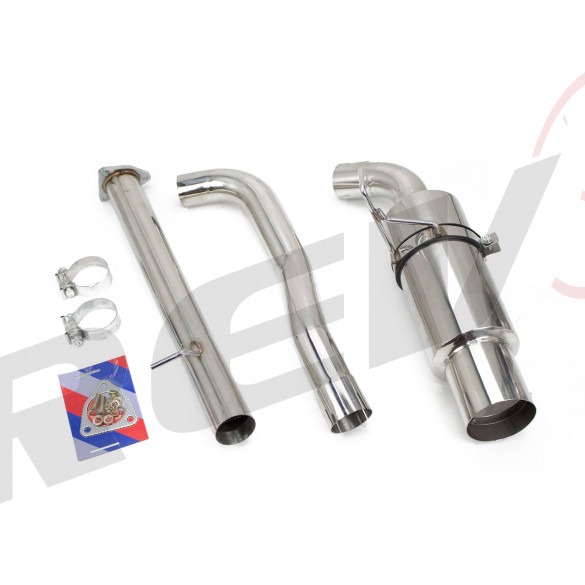 "Single Exit Cat-Back Exhaust Kit, Stainless, 2.75"" Inch, Honda S2000 00-09 (AP1/AP2)"