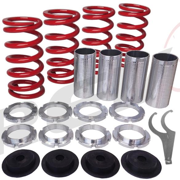Acura, Honda Lowering Spring Sleeve Kit (Red)