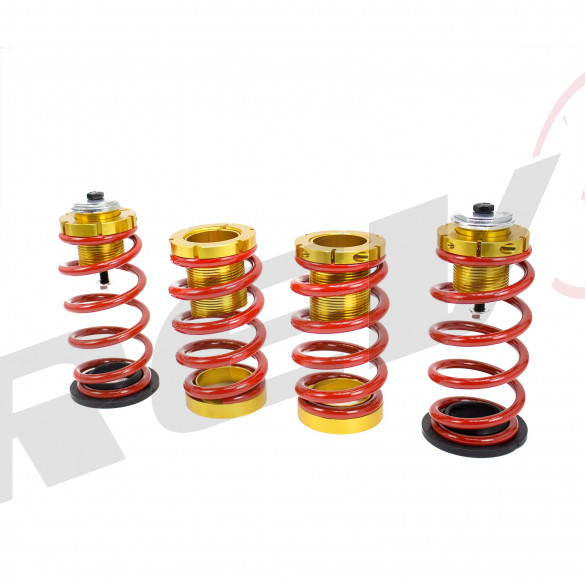 Honda Civic 12-15 Lowering Spring with Hi-Low Sleeve Kit, Red and Gold