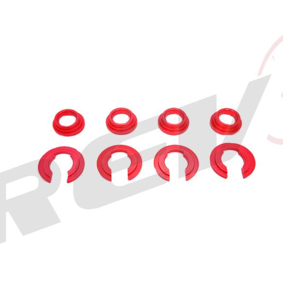 Billet Aluminum Subframe Collar for Nissan 300ZX 1990-98 Z32 (Red)