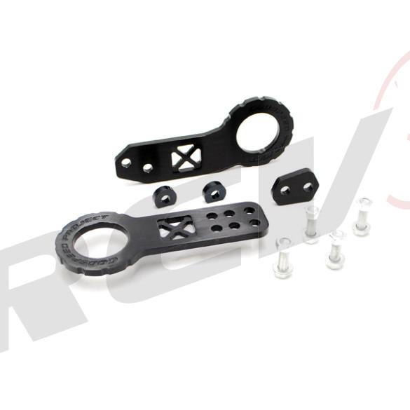 Universal Aluminum Cnc Tow Hook Front & Rear Black