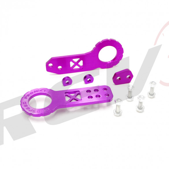 Universal Aluminum Cnc Tow Hook Front & Rear Purple