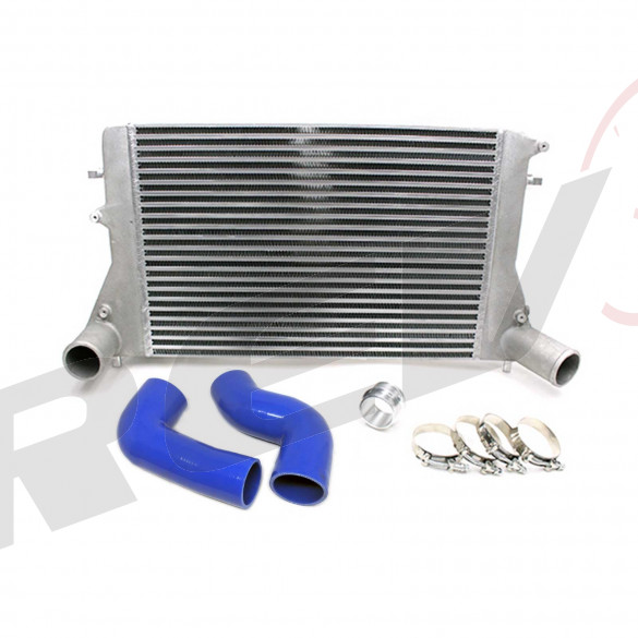 VW Jetta 2.0 TSI TFSI MK5 MK6 Front Mount Intercooler Kit (Version 2), Blue Hose