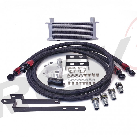 Volkswagen Jetta (MK6) 2.0T EA888 Bolt-On Upgrade 14 Row Oil Cooler Kit