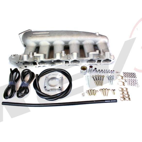 Nissan Skyline RB25DET Intake Manifold, Aluminum Casting, Raw Aluminum