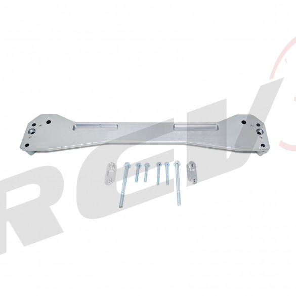 Rear Subframe Brace (Silver), Aluminum, Honda Civic 96-00 (EK)