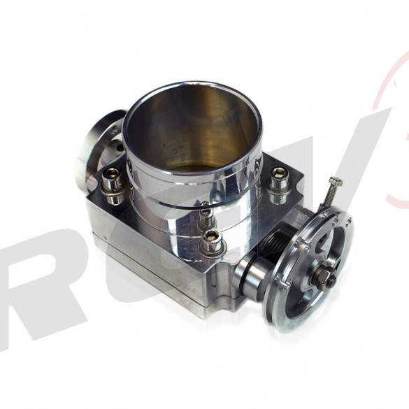 Universal Billet Aluminum 70mm Throttle Body with Adaptor Plate
