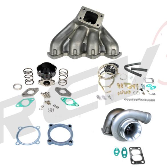 Honda Civic B16 B18 GT35 Top Mount Turbocharger Setup Kit