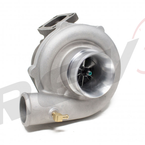 TX-50E-57 Billet Compressor Wheel Turbocharger .85AR, T3 Flange, 2.5 in. V-Band Exhaust