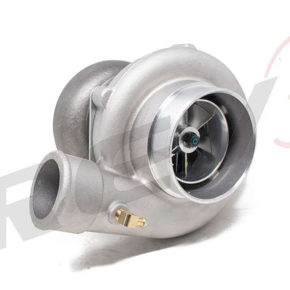 "TX-72-68 Billet Compressor Wheel Turbocharger .96 AR, T4 Flange, 3"" V-Band Exhaust Flange"