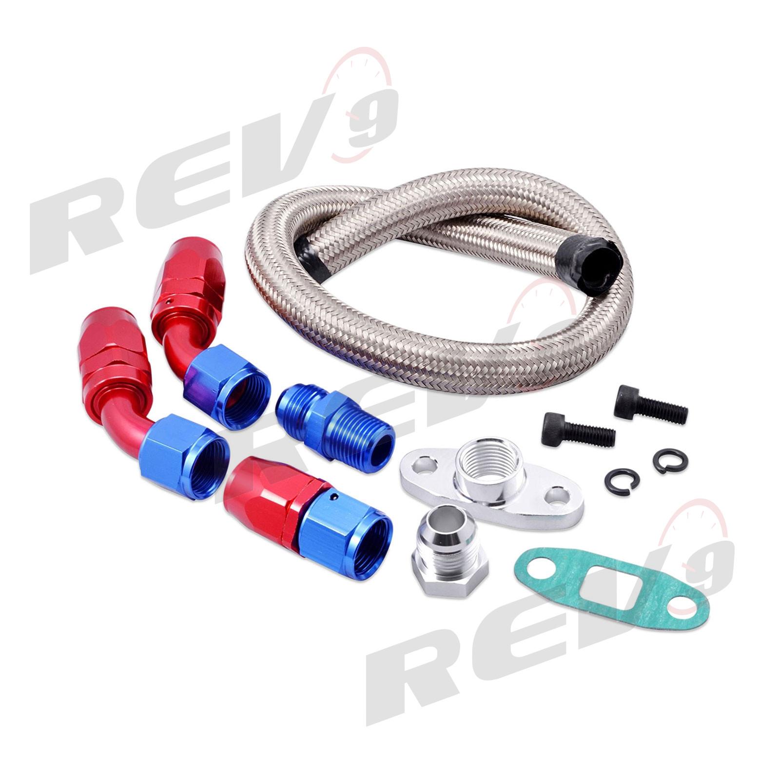 "Drain Line Kit 10AN t3 t3t4 t4 t70 t66 Rev9 17/"" Universal Turbo Oil Return"