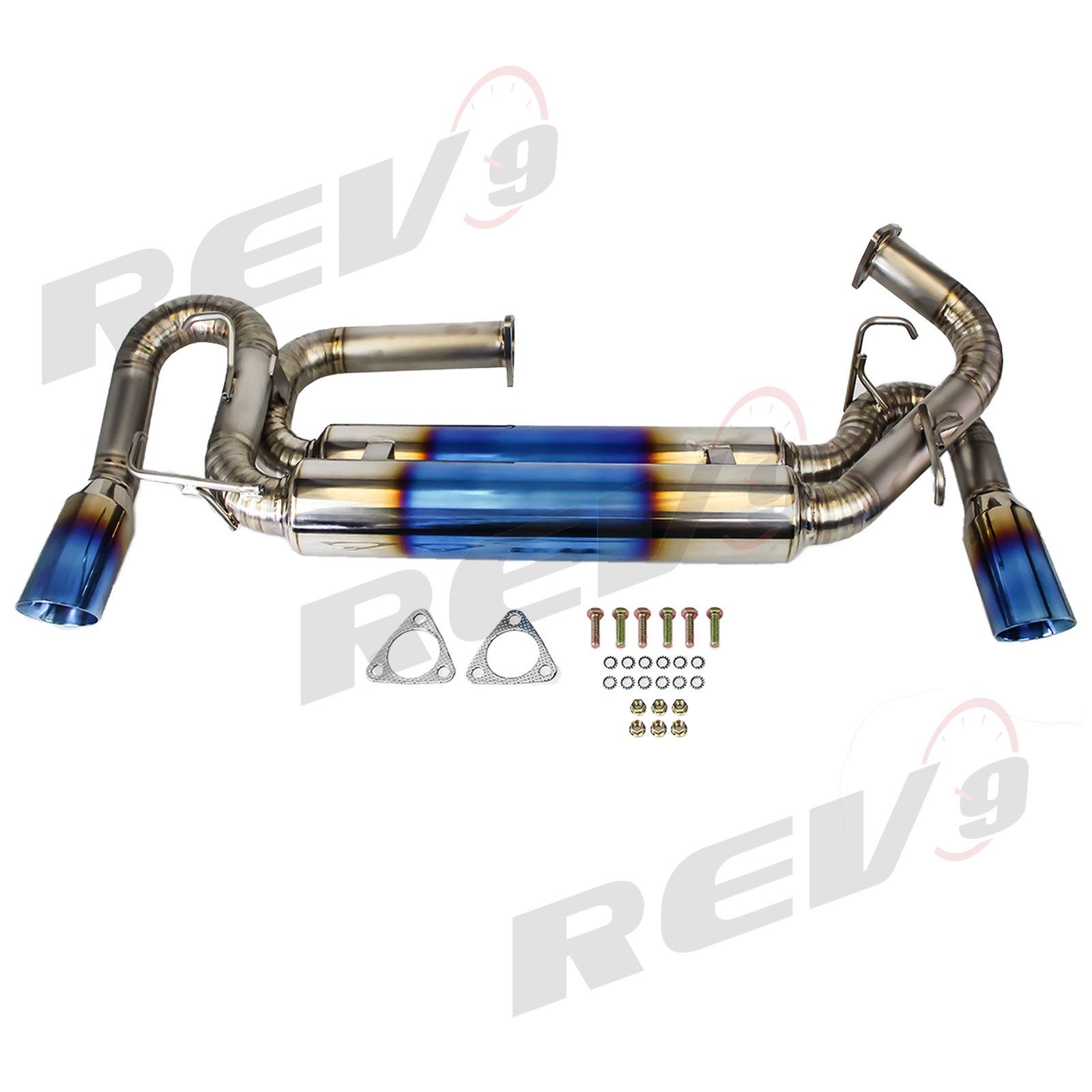 Rev9Power: Cat-Back Exhaust, Titanium,89mm Tip, Acura NSX