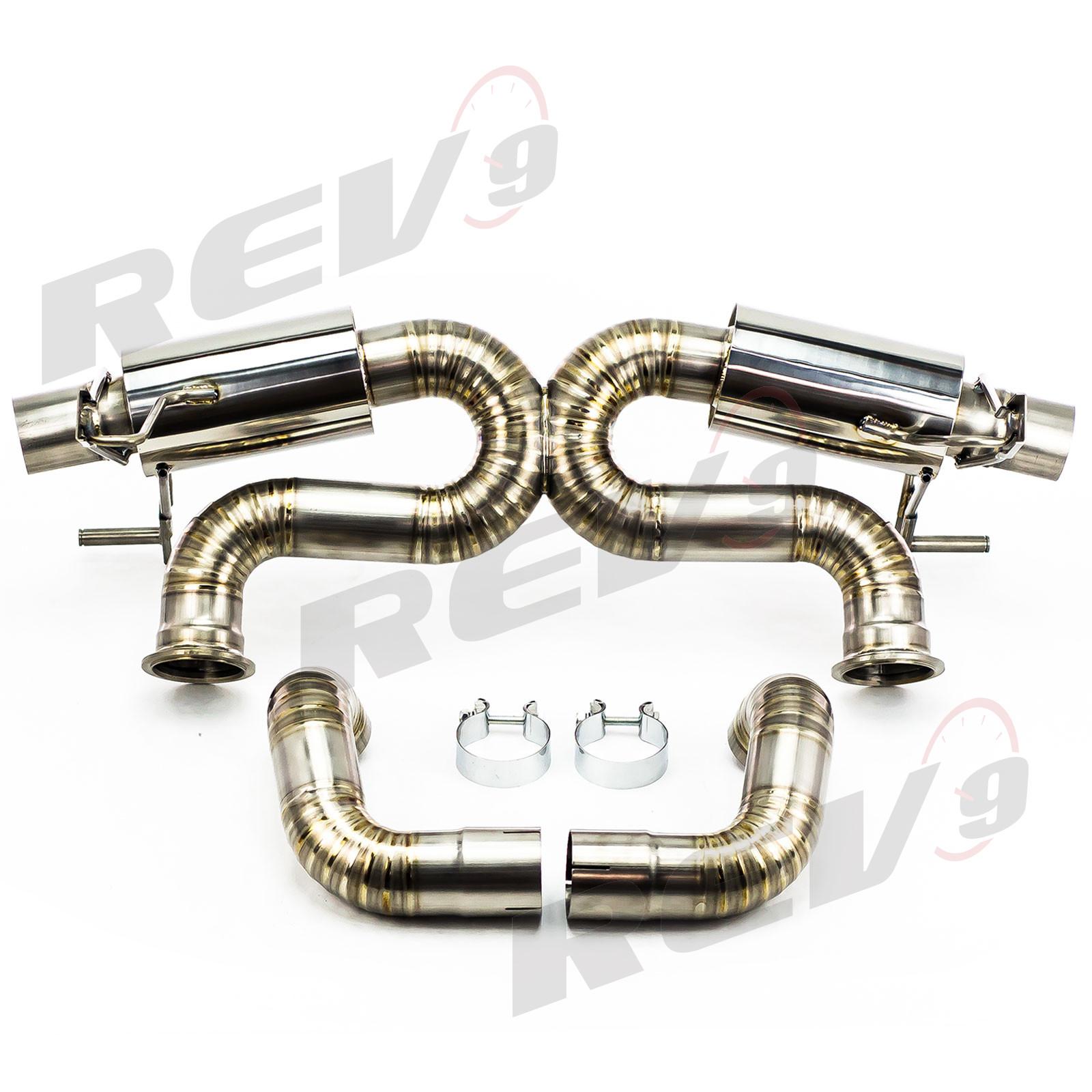 Rev9Power: Cat-Back Exhaust, Titanium, 3 Inch, Audi R8 5