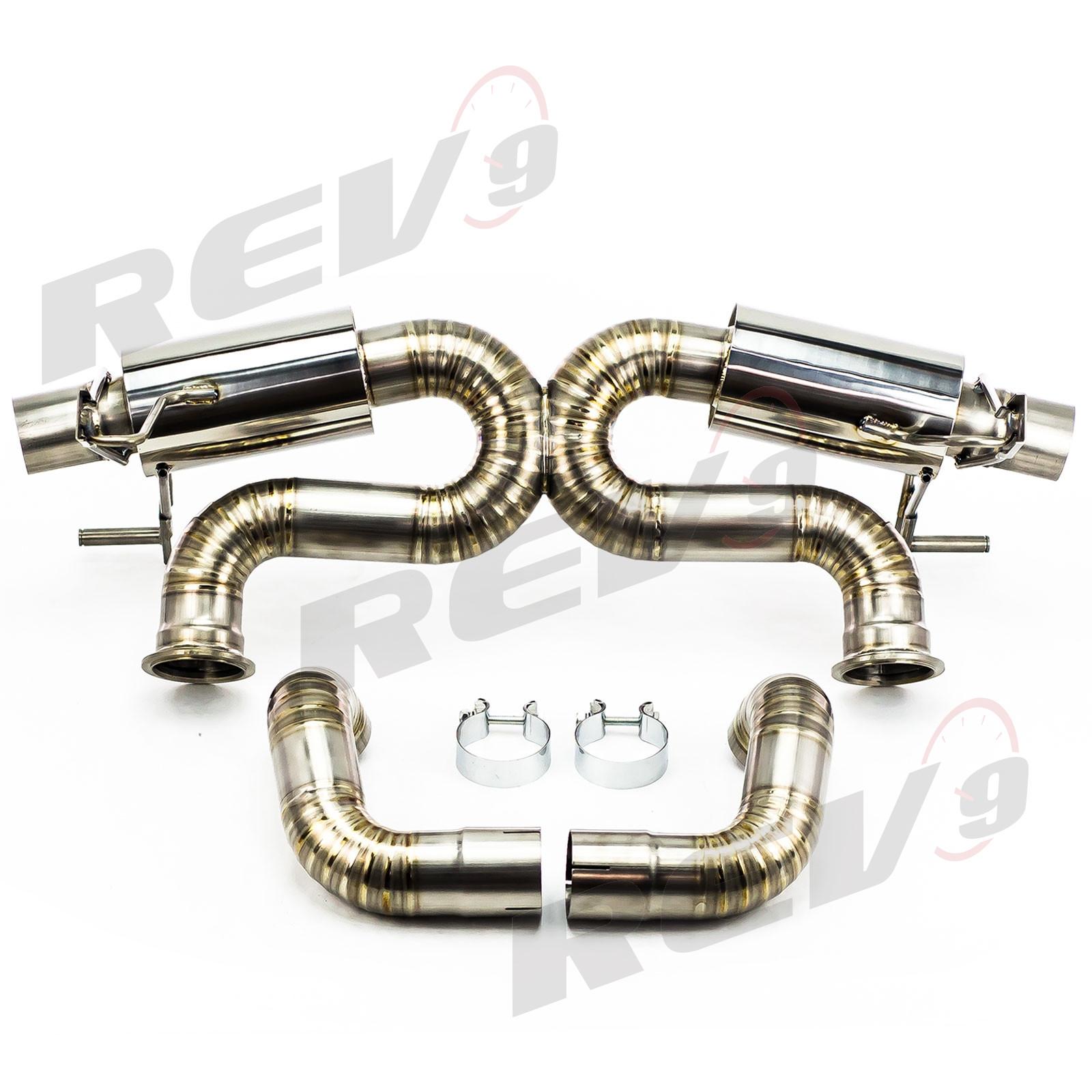 Rev9Power: Cat-Back Exhaust, Titanium, 2.75 Inch, Audi R8