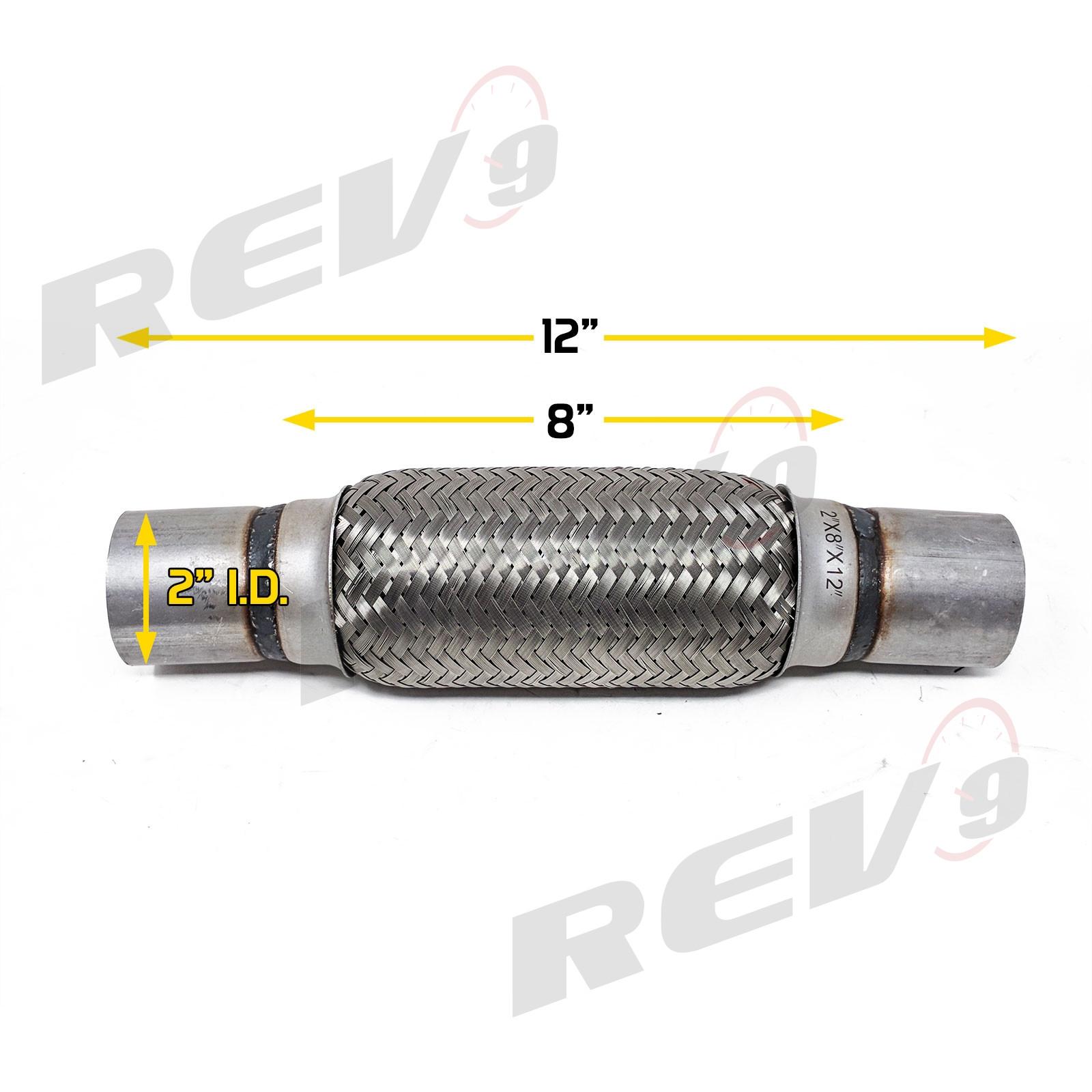 Rev power stainless steel flex pipe exhaust couplings
