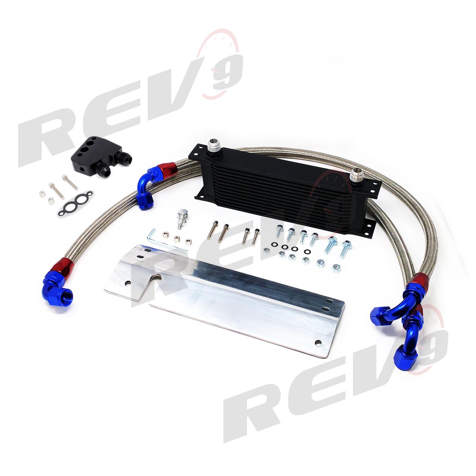 Oil Cooler Kit, 12 Row Bolt-On, Chevrolet Corvette 97-04 (C5) LS1 LS6
