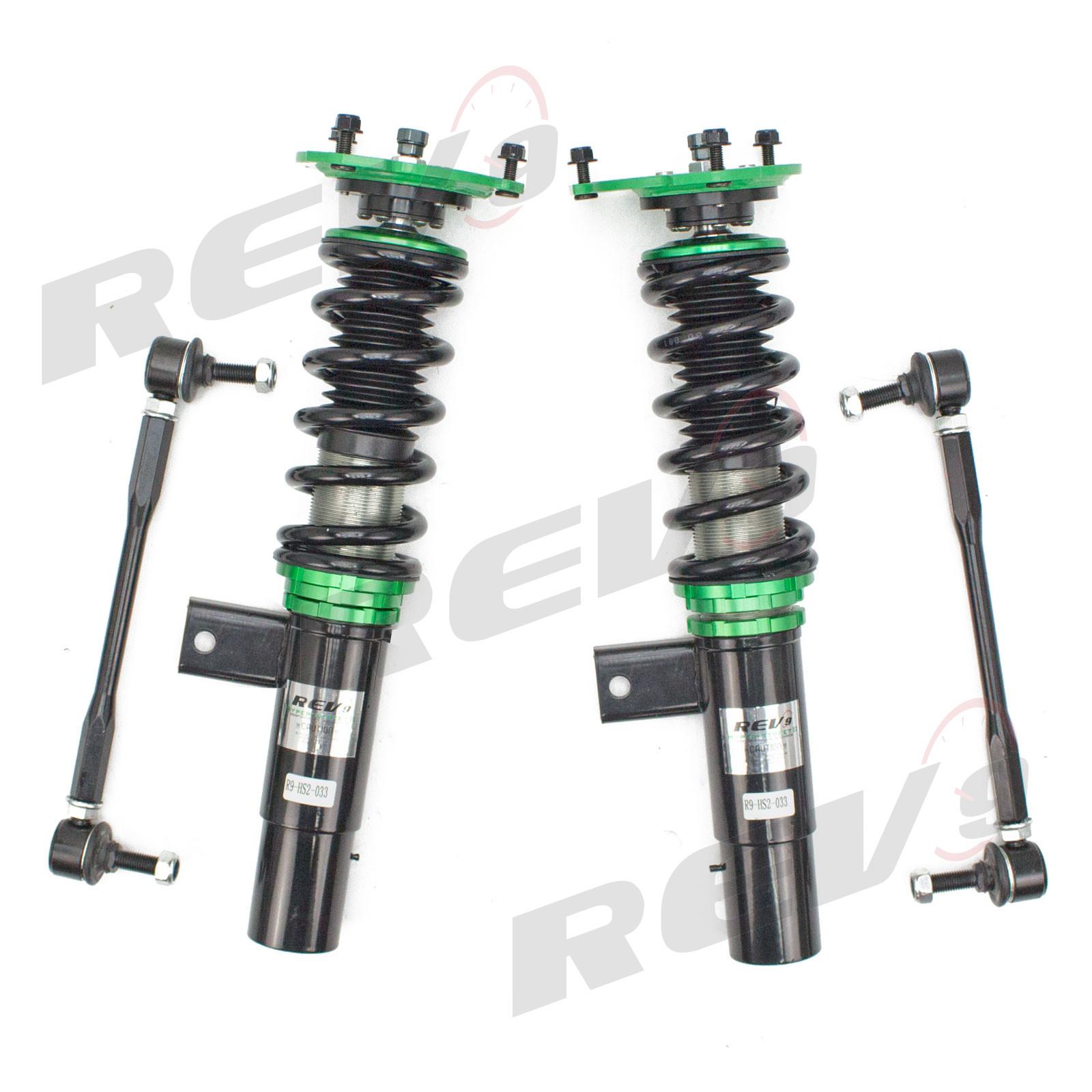 Rev9 R9-HS2-108/_1 Hyper-Street II Coilover Suspension Lowering Kit Full Length Adjustable Mono-Tube Shock w// 32 Click Rebound Setting