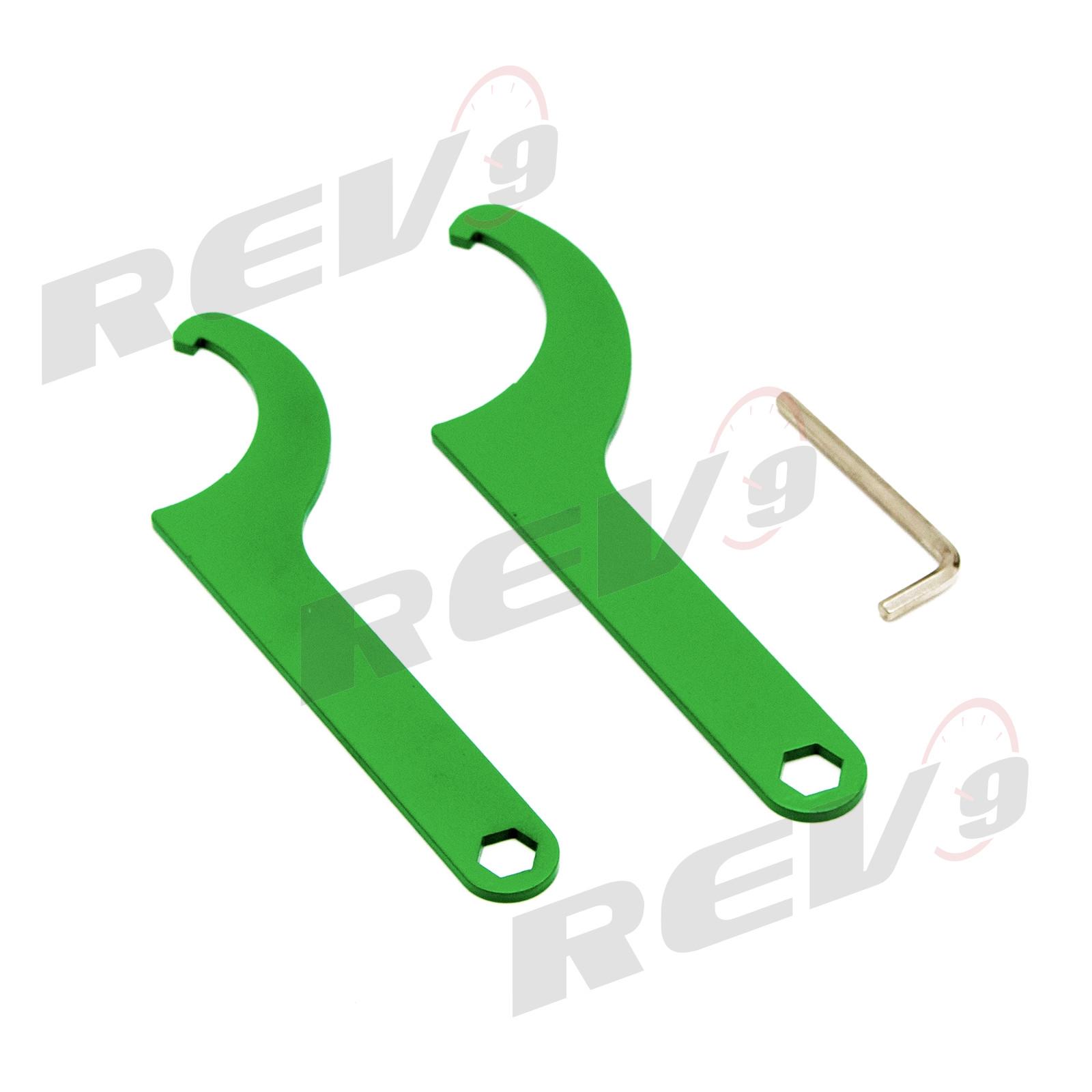 Mono-Tube Shock w// 32 Click Rebound Setting Full Length Adjustable Rev9 R9-HS2-033/_1 Hyper-Street II Coilover Suspension Lowering Kit