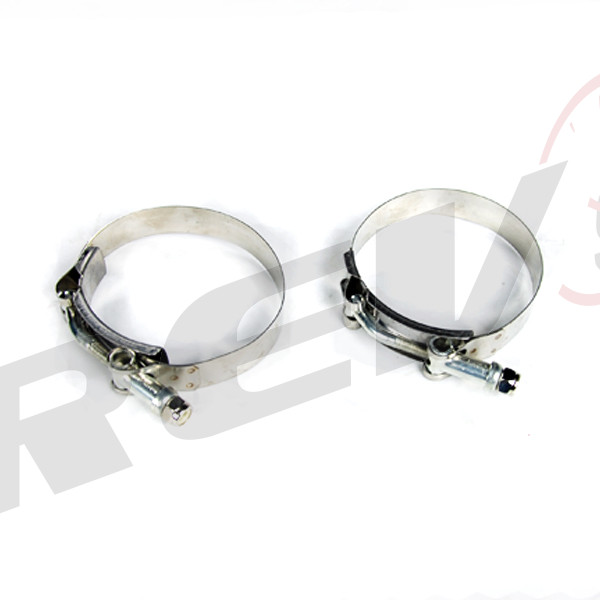 Rev power stainless steel band t bolt clamp for quot o d