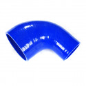 Silicone Tubing Reducer - 90 Degree Elbow 2.50 To 3.00 Inch, Blue
