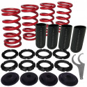 Acura, Honda Lowering Spring Sleeve Kit with Scale (Red)