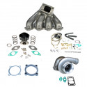 Honda Civic B16 B18 GT35 Top Mount Turbocharger Setup Kit