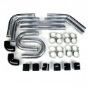 "Universal Intercooler Pipping Kit, Aluminum, 2-1/2"", Black Coupler"
