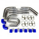 "Universal Intercooler Pipping Kit, Aluminum, 3"", Blue Coupler"