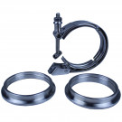 V-Band Clamp and Flange Set - 3.5 inch - Quick Release