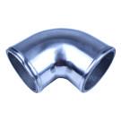 "Aluminum Elbow Pipe, 90 Degree, 2.5"" Diameter, Polished"