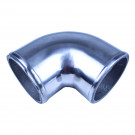 "Aluminum Elbow Pipe, 90 Degree, 2.25"" Diameter, Polished"