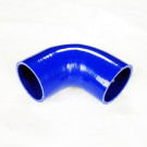 Silicone Tubing Coupler - 90 Degree Elbow 4.00 Inch, Blue